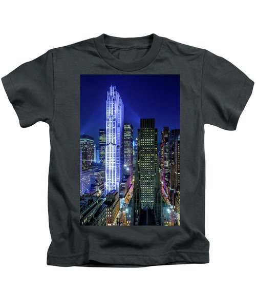 Rockefeller At Night Kids T-Shirt