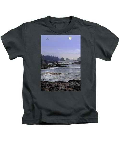 Rocks And Moon And Water Kids T-Shirt