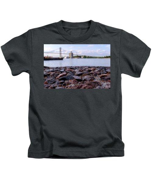 Rocks River And A Bridge In Savannah Georgia Kids T-Shirt