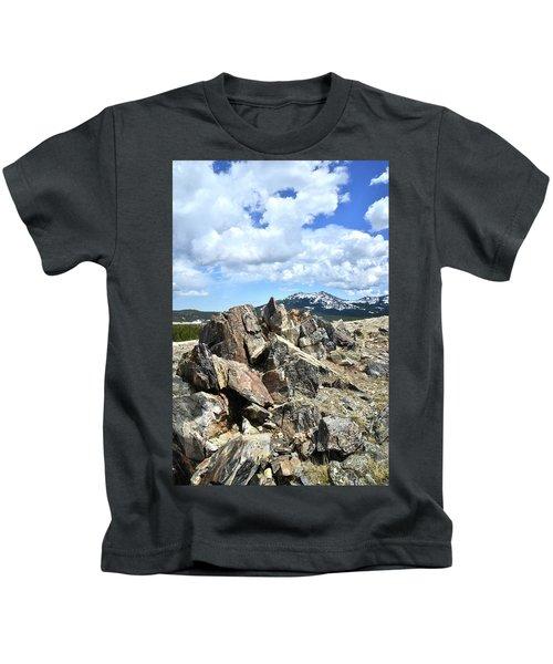 Rocky Crest At Big Horn Pass Kids T-Shirt