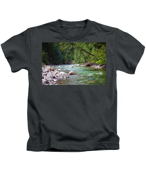Rocky Waters In The North Cascades Landscape Photography By Omas Kids T-Shirt