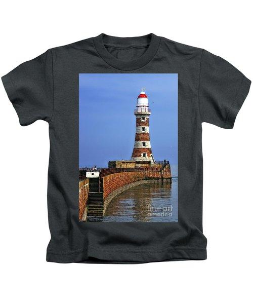 Roker Lighthouse Portrait Kids T-Shirt
