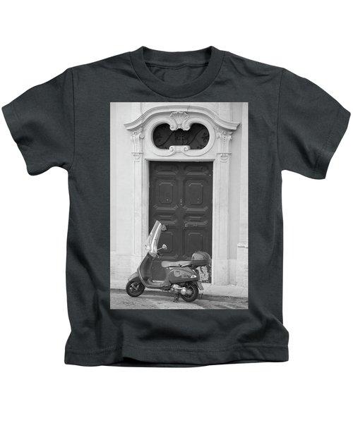 Roma Vespa And Door  Kids T-Shirt