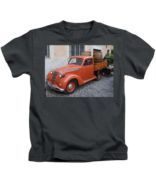 Roman Street Parking And Shopping Kids T-Shirt