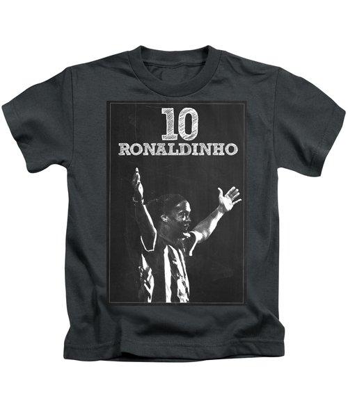 Ronaldinho Kids T-Shirt by Semih Yurdabak