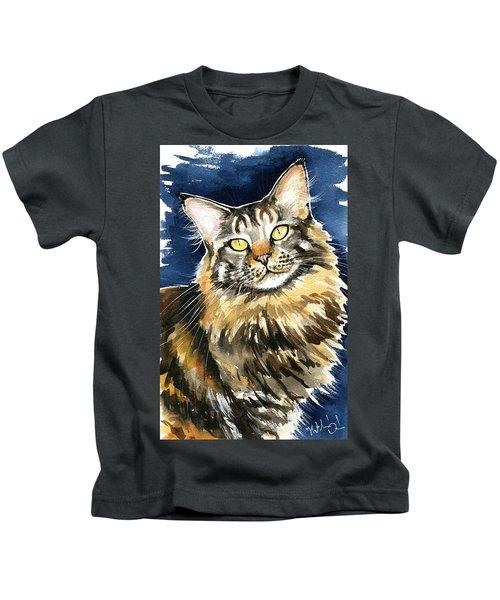 Ronja - Maine Coon Cat Painting Kids T-Shirt