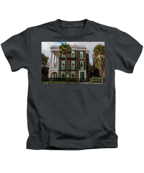 Roper Mansion In December Kids T-Shirt