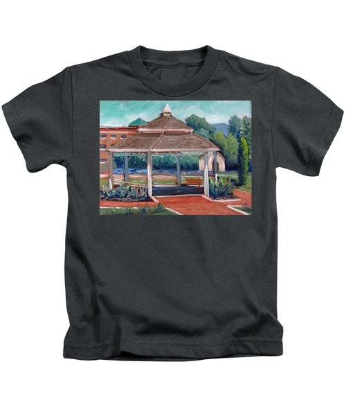 Rose Garden Gazebo Kids T-Shirt