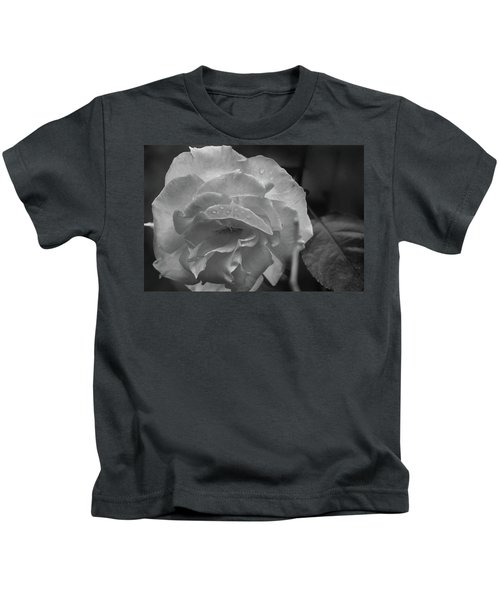 Rose In Black And White Kids T-Shirt