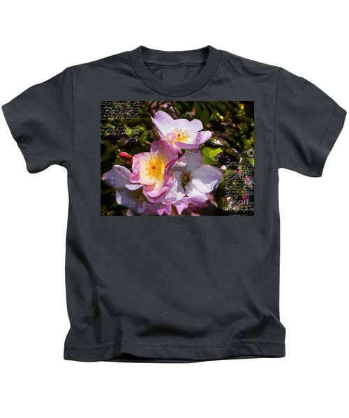 Roses Speak Of Love In The Language Of The Heart Kids T-Shirt