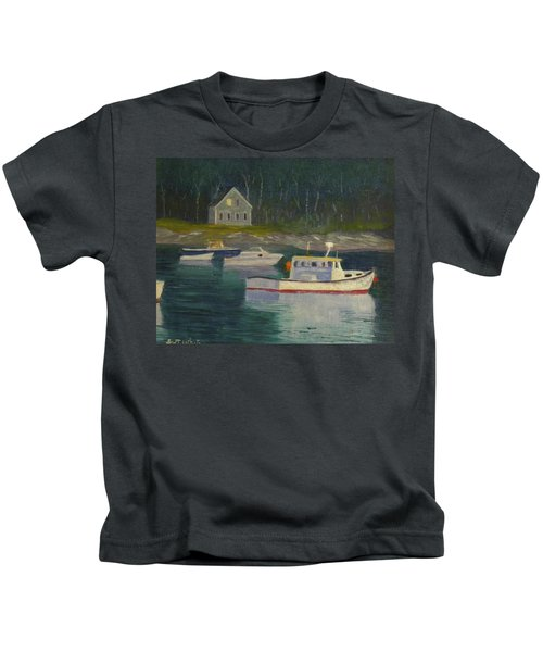 Round Pond Fading Light Kids T-Shirt