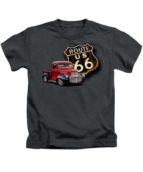 Route 66 Pickup Kids T-Shirt