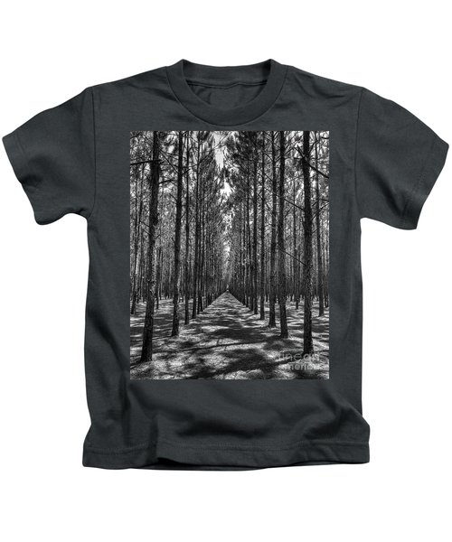 Rows Of Pines Vertical Kids T-Shirt