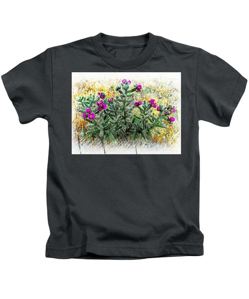 Royal Gorge Cactus With Flowers Kids T-Shirt
