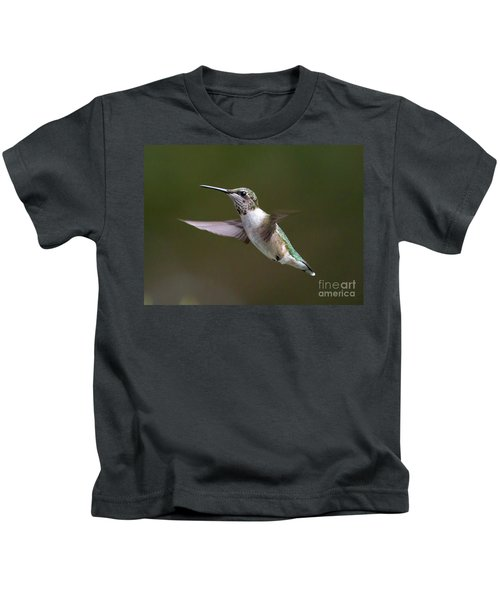 Ruby-throated Hummingbird Kids T-Shirt