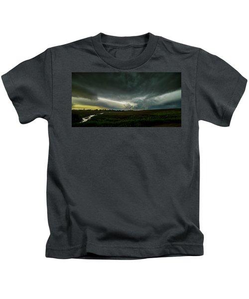 Rural Spring Storm Over Chester Nebraska Kids T-Shirt