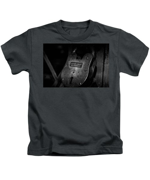 Rusty Lock In Bw Kids T-Shirt