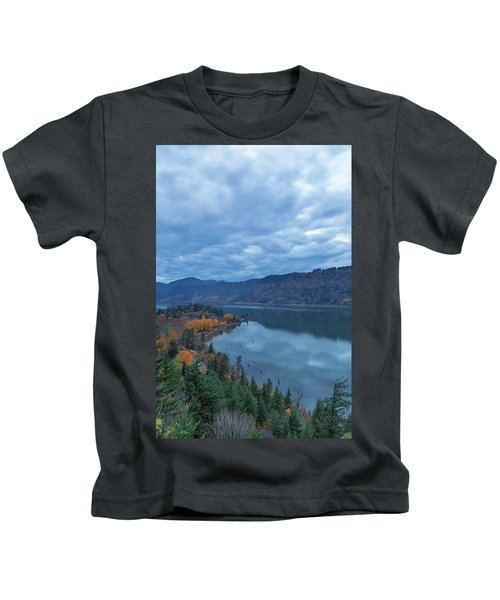 Ruthton Point During Evening Blue Hour Kids T-Shirt