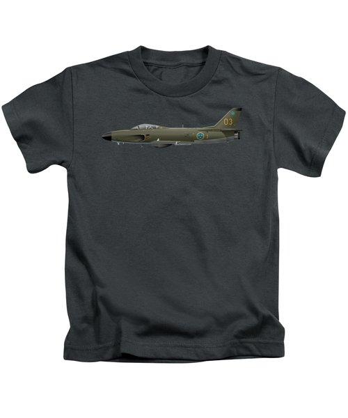 Saab J32e Lansen - 32512 - Side Profile View Kids T-Shirt