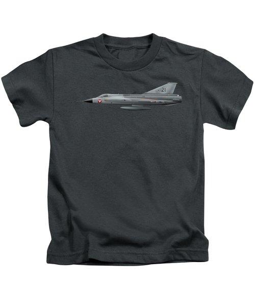 Saab J35o Draken - 351421 - Side Profile View Kids T-Shirt