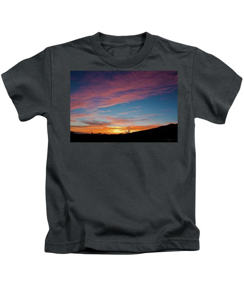 Saddle Road Sunset Kids T-Shirt
