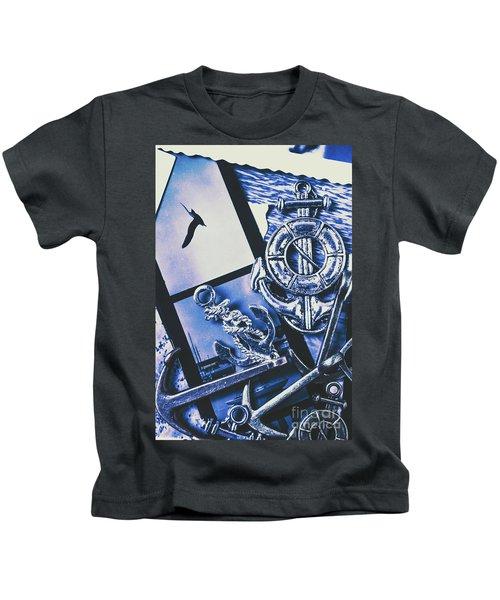 Sail Anchors And Boat Buoys  Kids T-Shirt