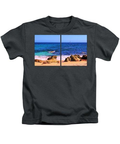 Sailboat At Sea Kids T-Shirt