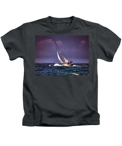Sailing To Nantucket 001 Kids T-Shirt