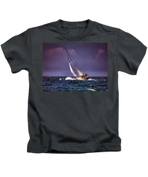 Sailing To Nantucket 001 Kids T-Shirt