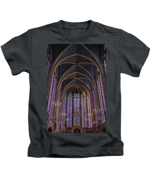 Sainte Chapelle Stained Glass Paris Kids T-Shirt