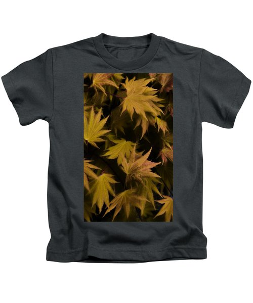 Japanese Autumn  Kids T-Shirt by Mike Nellums