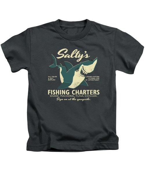 Salty's Fishing Charters Kids T-Shirt