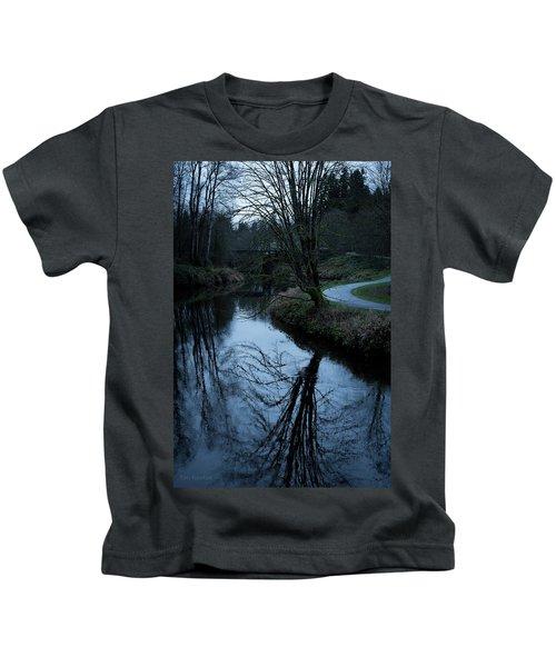 Sammamish River At Dusk Kids T-Shirt