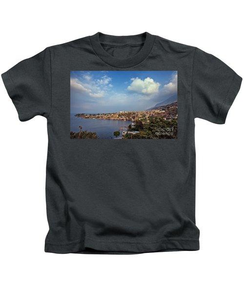 Kids T-Shirt featuring the photograph San Pedro La Laguna, Lake Atitlan, Guatemala by Sam Antonio Photography