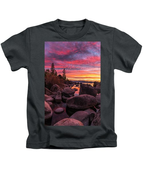 Sand Harbor Beach Kids T-Shirt