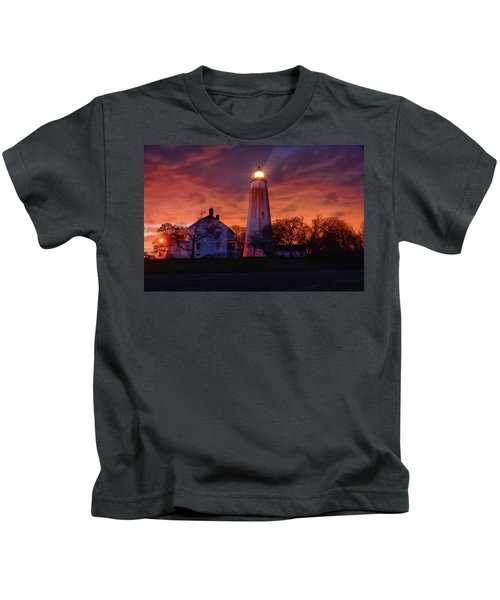 Sandy Hook Lighthouse Kids T-Shirt