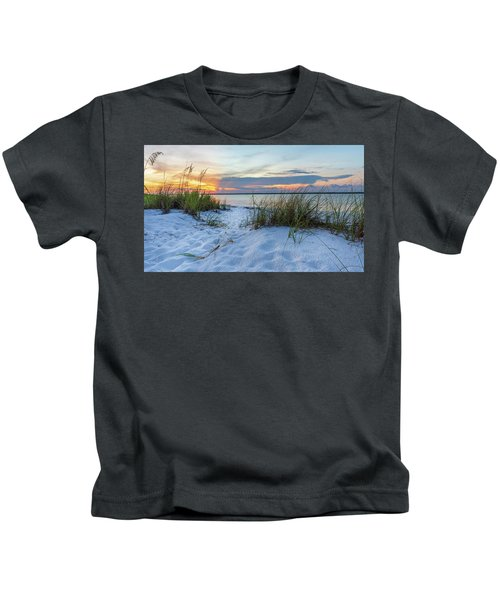 Santa Rosa Sound Sunset Kids T-Shirt