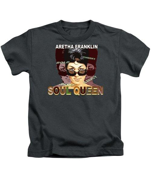 Sassy Soul Queen Aretha Franklin Kids T-Shirt