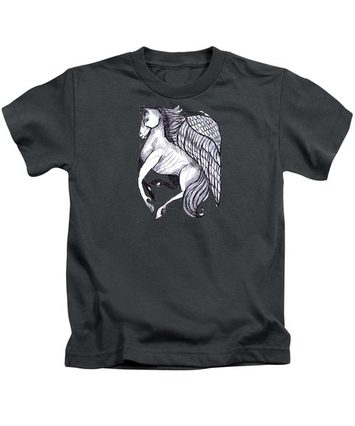 Save The Wild Mustangs Kids T-Shirt by Joanna Whitney