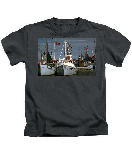 Scandinavian Fisher Boats Kids T-Shirt