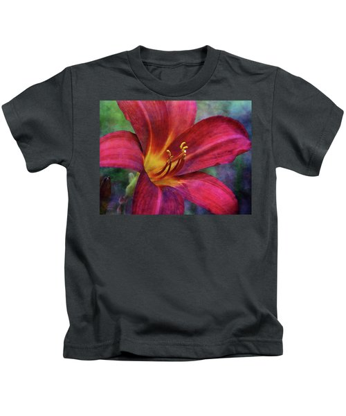 Scarlet And Gold Dust 3716 Idp_2 Kids T-Shirt