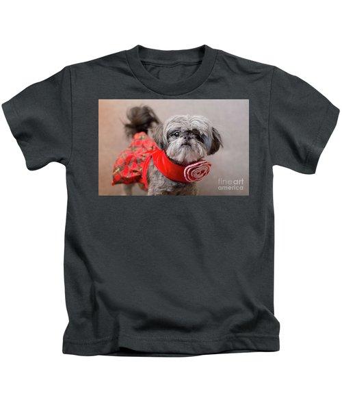 Scarlett In Christmass Dress Kids T-Shirt