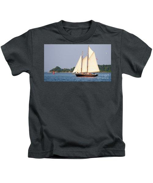 Schooner Cruise, Casco Bay, South Portland, Maine  -86696 Kids T-Shirt