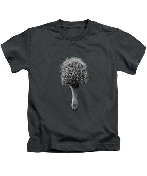Scrub Brush Up Bw Kids T-Shirt by YoPedro