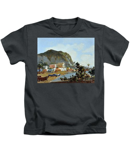 Sea And Mountain With Boats Kids T-Shirt