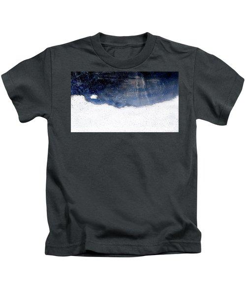 Sea, Satellite - Coast Line On Blue Ocean Illusion Kids T-Shirt