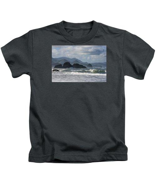 Sea Stacks And Surf Kids T-Shirt
