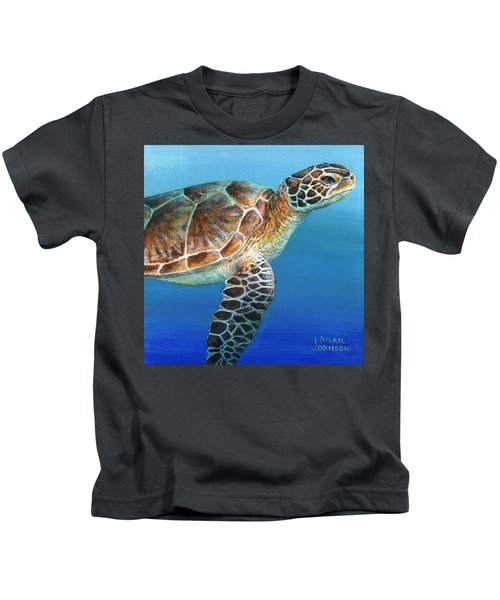 Sea Turtle 2 Of 3 Kids T-Shirt