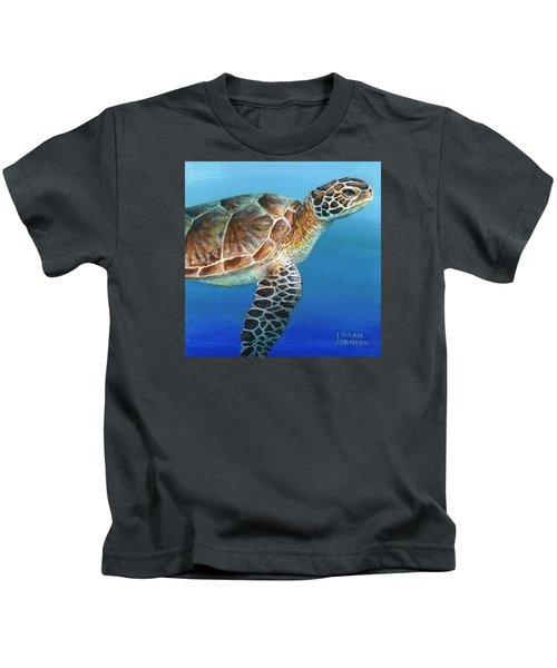 Sea Turtle 2 Of 3 Kids T-Shirt