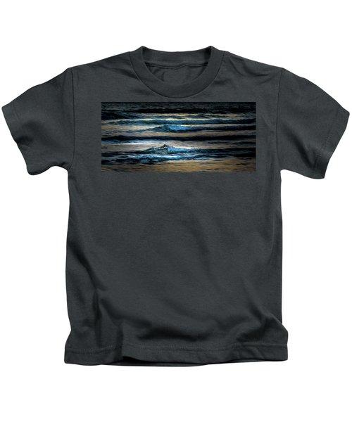 Sea Waves After Sunset Kids T-Shirt